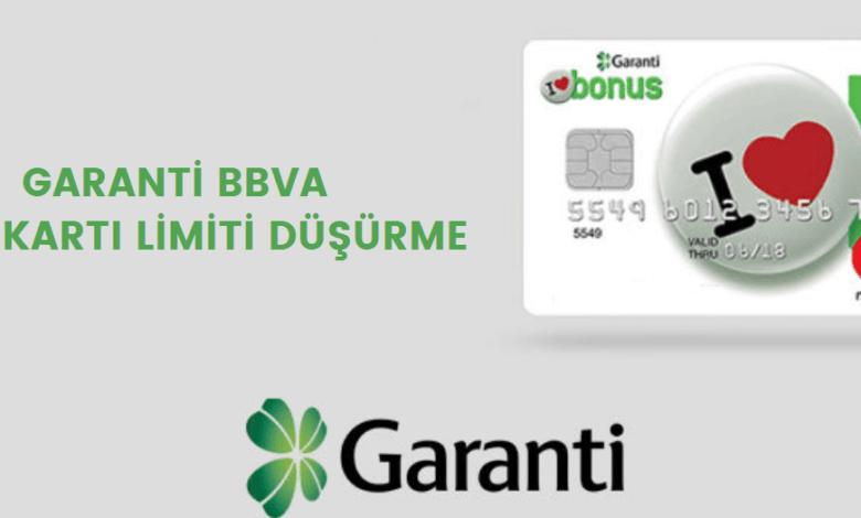 garanti kredi kartı limiti düşürme