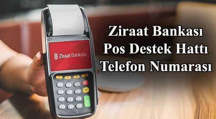 ziraat bankası pos destek telefon numarası
