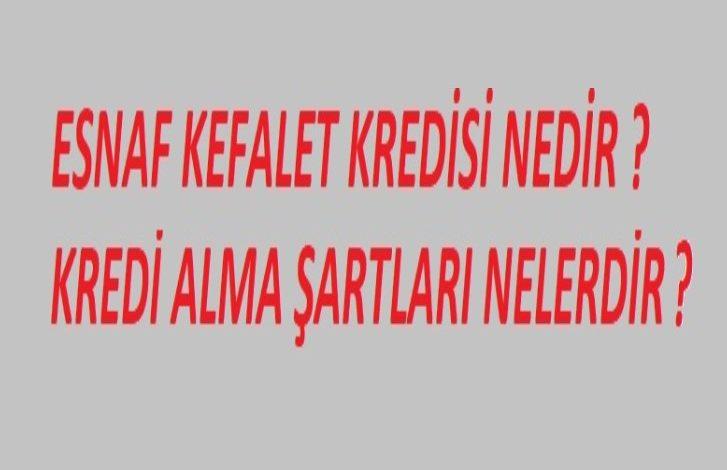 ESNAF KEFALET KREDİSİ
