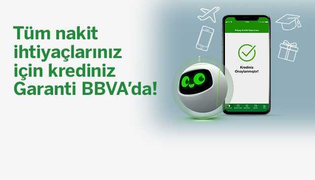 Garanti BBVA'dan 100.000 TL İhtiyaç Kredisi